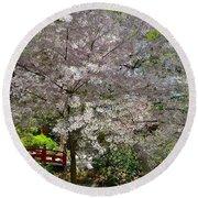 Spectacular Japanese Garden Round Beach Towel
