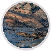 Spectacular View Of Rice Terrace Round Beach Towel