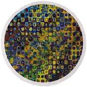 Spex Pseudo Abstract Art Round Beach Towel