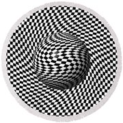 Sphere Abstract Pinch Round Beach Towel