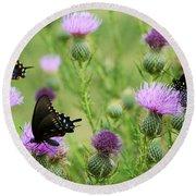 Spicebush Swallowtail Heaven Round Beach Towel