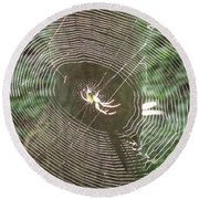 Spider Light Round Beach Towel