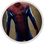 Spider-man 2.1 Round Beach Towel by Movie Poster Prints