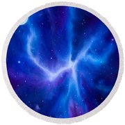 Spider Nebula Round Beach Towel by James Christopher Hill