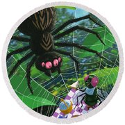 Spider Picnic Round Beach Towel