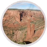 Spider Rock  Canyon De Chelly Round Beach Towel