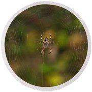 Spider Web Round Beach Towel