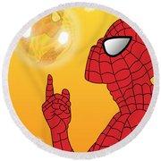 Spiderman 3 Round Beach Towel