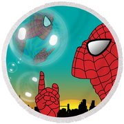 Spiderman 4 Round Beach Towel