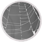 Spiderweb Bw Round Beach Towel