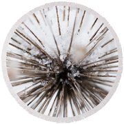 Spikes And Ice Round Beach Towel