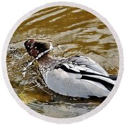 Spin Dry Duck Round Beach Towel