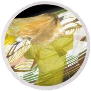 Spinning By Jan Marvin Round Beach Towel