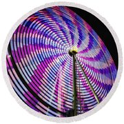 Spinning Disk Round Beach Towel by Joan Carroll
