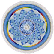 Spinning Flower Round Beach Towel