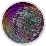 Spinning Out Of Control Round Beach Towel