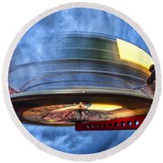 Spinning Up The Universe Round Beach Towel