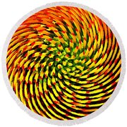 Spinning Watercolor  Round Beach Towel