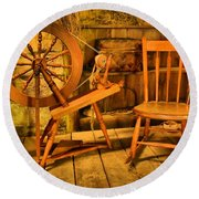 Spinning Wheel Round Beach Towel