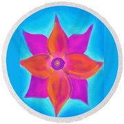 Spiral Flower Round Beach Towel