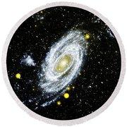 Spiral Galaxy Round Beach Towel
