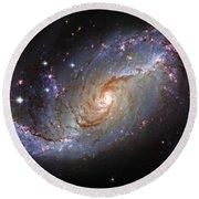 Spiral Galaxy Ngc 1672 Round Beach Towel
