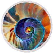 Spiral Life Round Beach Towel