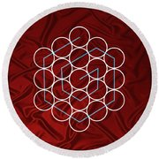 Spiral Of Evolution Expand Your Perception  Round Beach Towel