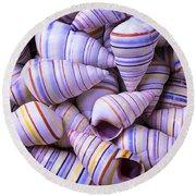 Spiral Sea Shells Round Beach Towel