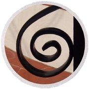 Spiral Stair Railing Round Beach Towel
