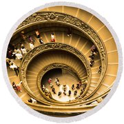 Spiral Staircase Round Beach Towel by Stefano Senise