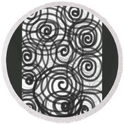 Spirals Of Love Round Beach Towel by Daina White
