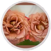 Spirit Dance Roses Art Prints Round Beach Towel
