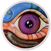 Spirit Eye Round Beach Towel