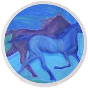 Spirit Guide By Jrr Round Beach Towel