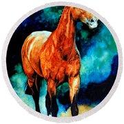 Spirit Horse Round Beach Towel