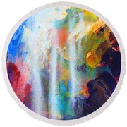 Spirit Of Life - Abstract 5 Round Beach Towel
