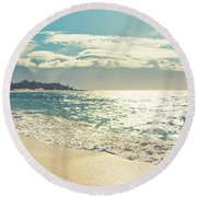 Spirit Of Maui Round Beach Towel