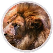 Spirit Of The Lion Round Beach Towel