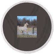 Spirited Horse Round Beach Towel