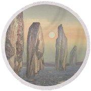 Spirits Of Callanish Isle Of Lewis Round Beach Towel