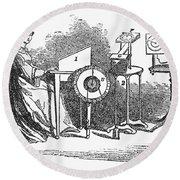 Spiritualism, 1855 Round Beach Towel