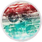 Spirtuality Of The Planet Round Beach Towel by Yael VanGruber