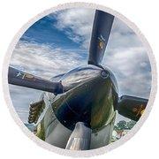 Spitfire Prop   7d03705 Round Beach Towel