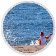 Splash Conductor Round Beach Towel