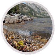 Splash Lake Jenny Round Beach Towel
