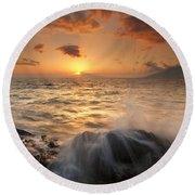 Splash Of Paradise Round Beach Towel by Mike  Dawson