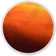 Splash Of Sunset  Round Beach Towel