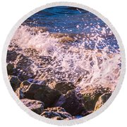 Splashes Round Beach Towel