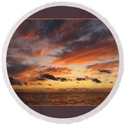 Splendor In The Skies Round Beach Towel